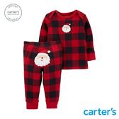 【美國 carter s】 美式格紋聖誕2件組套裝