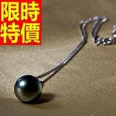 珍珠項鍊 單顆10mm-生日情人節禮物首選宴會女性飾品53pe19[巴黎精品]