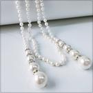 [L029-S]時尚百搭長珍珠垂墜項鍊~美之札