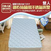 床墊  日本超人氣 3D可水洗專利 透氣抗菌床墊-雙人(活力藍) KOTAS