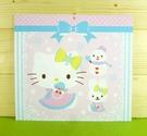 【震撼精品百貨】Hello Kitty 凱蒂貓~雙面卡片-粉雪人