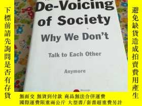 二手書博民逛書店THE罕見De-Voicing of society why w