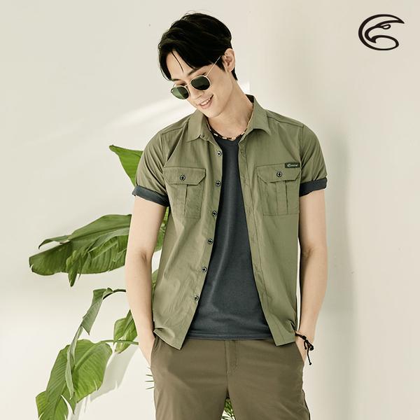 ADISI 男透氣快乾抗UV短袖襯衫AL2111131 (M-2XL) / 吸濕排汗 防曬 抗紫外線 透氣 速乾 快乾 UPF50+