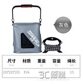 釣魚桶 加厚EVA可摺疊帶繩方形裝魚桶活魚小魚桶筏釣桶取水桶 3C優購HM