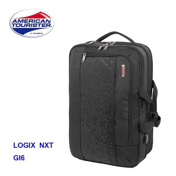 Samsonite 美國旅行者AT【LOGIX NXT GI6】RFID防盜 兩用筆電後背包 外接USB孔 附筆帶 雨套