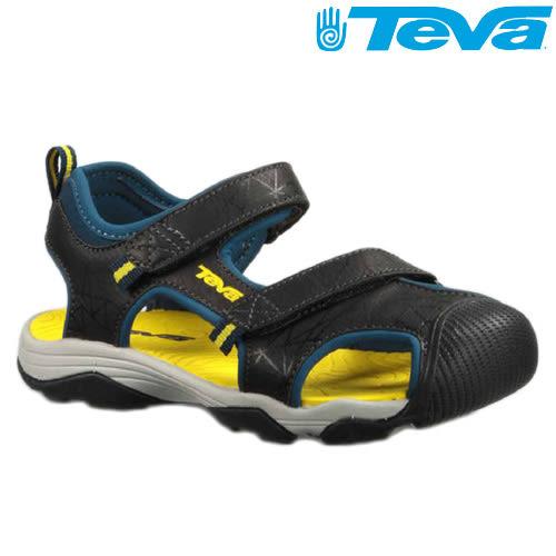 TEVA Kids兒童護趾水陸運動涼鞋Toachi 3 - 海軍/黃(中大童)