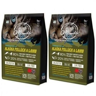 Allando 奧蘭多天然無穀貓鮮糧(阿拉斯加鱈魚+羊肉)1.2公斤 X 2包