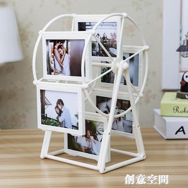 創意DIY定制照片風車旋轉相框擺臺相冊結婚生日紀念感恩教師節 創意新品