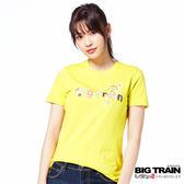 BIG TRAIN  和風物語短袖-女-芥黃