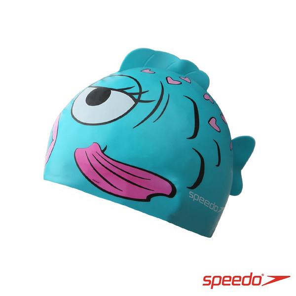 ║speedo║幼童矽膠泳帽Sea Squad金魚藍