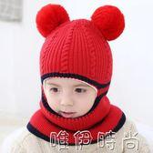 兒童帽 秋冬季兒童帽子2-4-6歲男女寶寶加厚毛線帽小孩保暖護耳帽公主帽 時尚新品