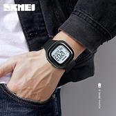 戶外表 時刻美時尚簡約男士戶外運動手錶方形夜光防水中學生電子表多功能 曼慕