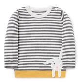 歐美風格男童純棉長T-條紋兔
