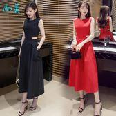 連身裙新款女裝時尚性感露腰修身顯瘦收腰洋裝氣質小禮服長裙萬聖節,7折起