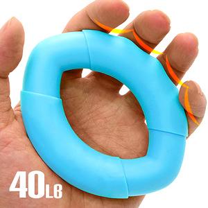 橢圓工學40LB握力圈.矽膠握力器握力環.指壓按摩握力球.硅膠筋膜球.訓練手指力手腕力抓力手力