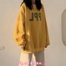 長袖大學T 韓版衛衣女春秋裝新款慵懶風bf薄款外套寬鬆學生上衣 - 小衣里大購物