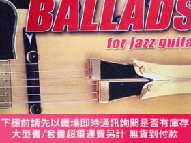 二手書博民逛書店Learn罕見play 12 ballads songs arrangd for jazz guitar 12首民