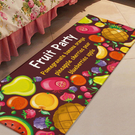 水果派對圖案地墊(長) 門墊 腳墊 地毯 玄關 浴室 廚房 臥室 客廳 防滑 時尚【V028】MY COLOR