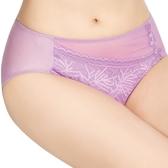 思薇爾-珊瑚戀系列M-XXL蕾絲中腰三角褲(羅曼紫)