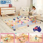 嬰兒游戲圍欄寶寶爬行學步護欄實木室內兒童安全圍欄柵欄FA