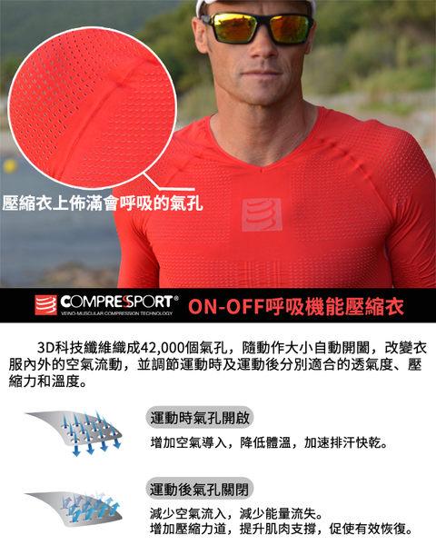 【線上體育】COMPRESPPORT  CS-OnOff 短袖 紅 S