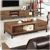 【水晶晶家具/傢俱首選】JM1784-1 漢諾瓦4尺拼接木紋6分木芯板單抽大茶几