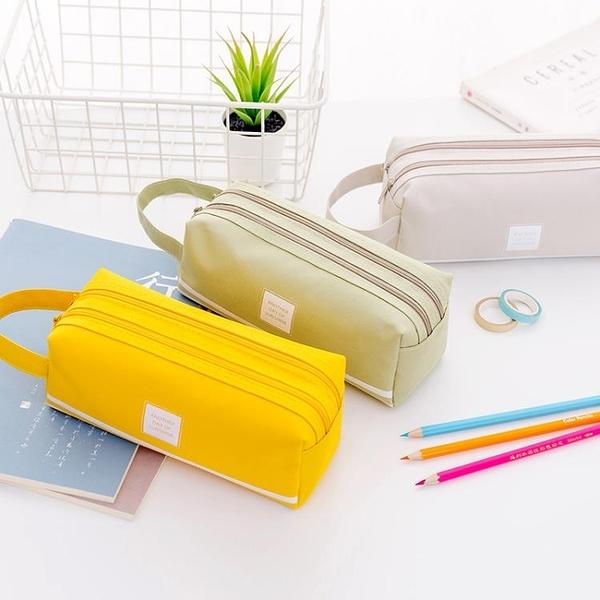大容量手提筆袋廣告印刷女簡約ins女生初中生帆布文具盒