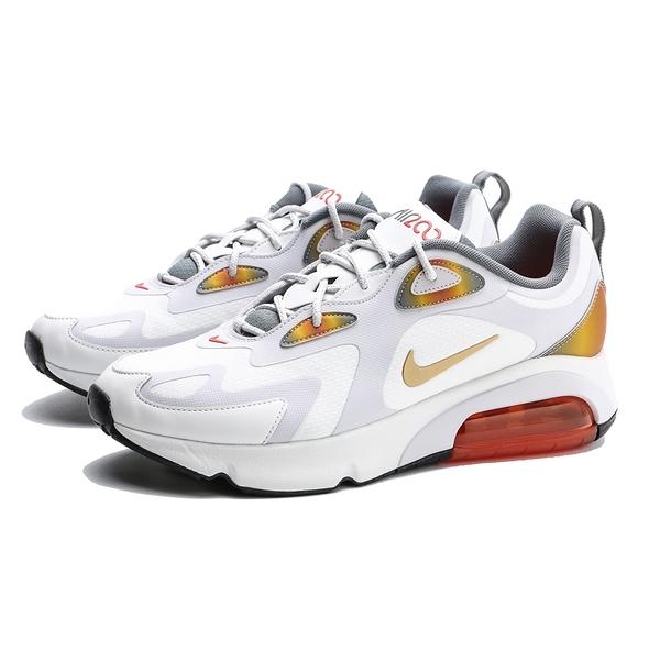 NIKE AIR MAX 200 SE 白 彩虹 復古 氣墊 休閒 慢跑鞋 男女 (布魯克林) AT8507-100