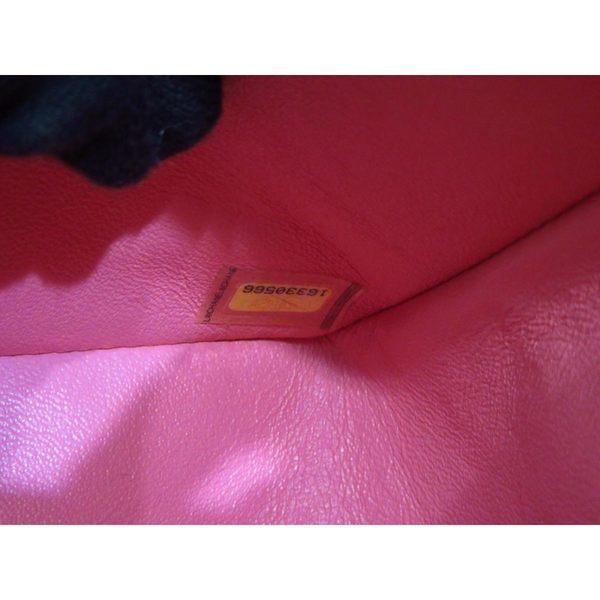 【特價20%OFF】CHANEL 香奈兒 珊瑚粉色菱格紋羊皮單蓋銀鍊肩背包A58601【BRAND OFF】