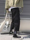 工裝褲ins帥氣嘻哈潮cargo女寬鬆bf直筒女生闊腿酷cec褲子秋LA516【毛菇小象】