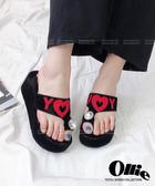 【2wenty6ix】正韓Ollie ★ I Love Y 個性時尚 閃耀大寶石 套指厚底涼拖鞋 (兩色)