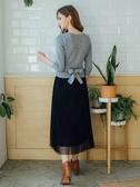 3折出清[H2O]前面交叉設計顯瘦腰部可綁帶針織毛衣 - 紅/黑/灰色 #8630003