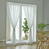 窗紗 紗簾免打孔出租房簡易白色窗紗臥室飄窗隔斷魔術貼粘貼窗沙簾全館免運