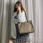 大包包女新款潮韓版百搭單肩包大容量洋氣女包編織手提斜挎包 小時光生活館