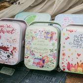 馬口鐵收納盒長方形手提伴手生日小禮品盒可愛迷你包裝喜糖果鐵盒【櫻花本鋪】