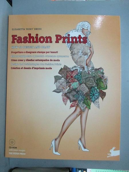 【書寶二手書T1/設計_QBF】Fashion Prints: How to Design and Draw_Drudi, Elisabetta Kuky