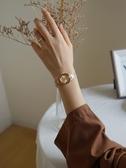 伴朵手錶女簡約ins風氣質小巧復古女式女士女生手錶女學生小錶盤  魔法鞋櫃