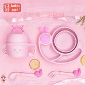 聖誕繽紛節❤卡貝比新品兒童餐具套裝小麥秸稈分格餐盤卡通幼兒園寶寶碗勺叉杯