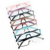 好康推薦動漫日系cos軟妹黑方橢圓半框眼鏡金屬自拍二次元裝飾眼鏡架男女