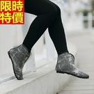 短筒雨靴-美式風格加厚保暖女雨鞋66ak...