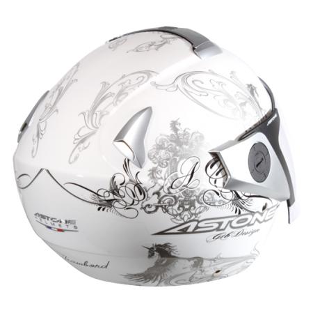 【東門城】ASTONE RS II37 (白黑) 半罩式安全帽 雙鏡片 眼鏡溝