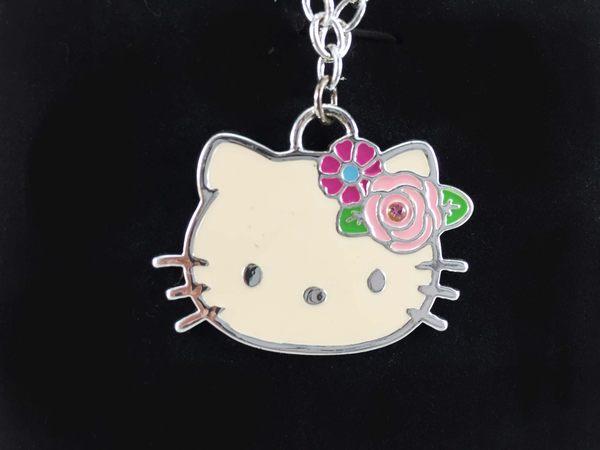 【震撼精品百貨】Hello Kitty 凱蒂貓~造型項鍊-玫瑰造型