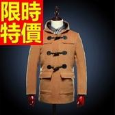 毛呢大衣-羊毛獨特短版防風男風衣外套2色62n66【巴黎精品】