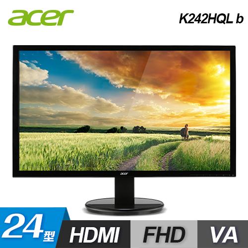 【Acer 宏碁】K242HQL b 24型 LED 背光寬螢幕