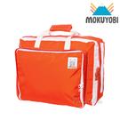MOKUYOBI / Bedford Bag / L.A 空運繽紛多功能筆電手提後背包(附贈補丁徽章)  - 橘紅色