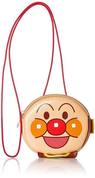 日本 麵包超人 臉型零錢包 收納包 可愛斜掛包【小福部屋】