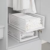 衣櫃收納分層隔板衣服抽屜式塑料箱子【聚寶屋】