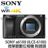 SONY a6100 黑色 附 SIGMA 56mm F1.4 Contemporary (24期0利率 免運 公司貨) E接環 微單眼數位相機