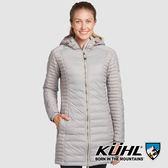 【KUHL】女 Spyfire 抗風連帽鵝絨大衣『石英灰』K2140 冬季 禦寒 防風 防水 保暖 修身 長版 羽絨外套