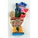 【收藏天地】台灣紀念品專賣*寶島冰箱貼-真愛碼頭款  磁鐵 送禮 文創 風景 觀光 批發 禮品 波麗